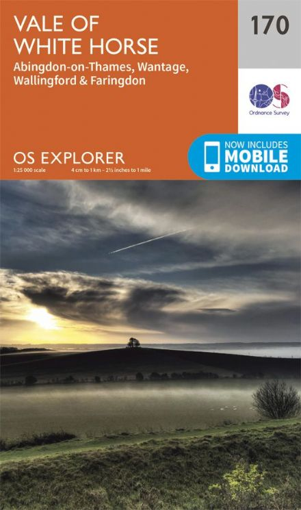 OS Explorer 170 - Vale of White Horse, Abingdon on Thames, Wallingford & Faringdon